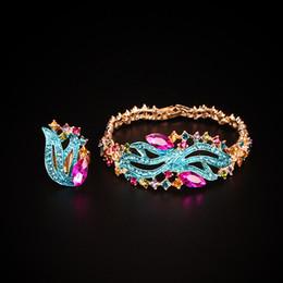 anillo de jade indio Rebajas Ashion Conjuntos de joyas Pulseras de cristal de moda Conjunto de anillos Conjuntos de joyas nupciales para novias Joyas indias del banquete de boda Brazaletes ...