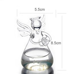 Cute Clear Glass Angel Shape Flower Plant Hanging Glass Vase Container Wedding Decor Transparent Vase Table Home Deco от