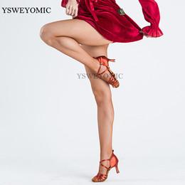 25fe7a08f837d Professional Latin Tights Tan Black Women Ballroom Latin Dance Hard Yarn Elastic  Stockings Pantyhose Fishnet Dance Tights