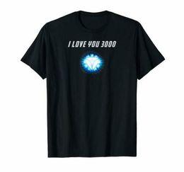 2019 citas de regalos de amor I Love You 3000 T Shirt Logo Iron Man Quotes Endgame Black Regalos Familia citas de regalos de amor baratos