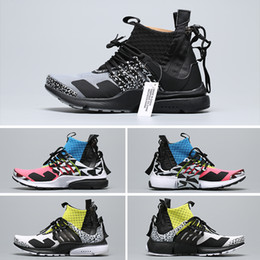 2019 zapatos frescos para correr Acronym x Nike Air Presto Mid 2019T 2019 ACRONYM X Presto Mid V2 Hombres Zapatillas de running Racer Pink Cool Grey Darts Street Designer Zapatillas Camuflaje Graffiti rebajas zapatos frescos para correr