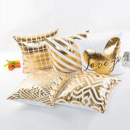 2019 fundas de almohada hechas en casa Cojín decorativo Funda de almohada Estampado en caliente Decoración para el hogar Funda de almohada Geométricos patrones de piña Sofá Funda de almohada 45 * 45 CM