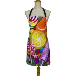 Argentina Delantal de Amazon de la tela de la patente de 2018 KEFEI para la cocina colorida del delantal de la impresión digital del caramelo de las mujeres cheap kitchen print fabric Suministro