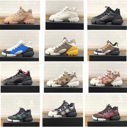 Chaussures de course vintage en Ligne-Luxe femmes Designer Connect Sneaker en multi-couleur en néoprène plateforme à lacets en cours Formateurs Retro Girl Vintage Chaussures Taille 5 cm US11