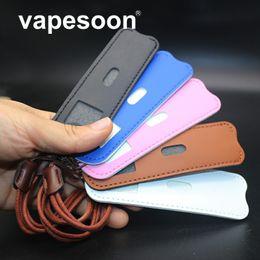 vaschetta di penna Sconti Cinghia per il collo in pelle di alta qualità Borsa per il trasporto Tasca per borsa per pod vape E-Cig piccola cialda Vape penna Accessori / Easy Carry