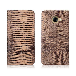 12e1341c8 Lizard Pattern Genuine Leather Case With Card Slot For Samsung Galaxy A8  2018 Flip Phone Bag For Samsung Galaxy A8 2018 Flip Case Kickstand