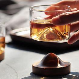 whisky de cabeça de cristal Desconto Vidro Home Kitchen Wine Whiskey Montanha fundo de madeira irlandesa do vinho Transparente Copo de vidro do copo de chá para ferramentas Whisky Wine Vodka Bar Clube