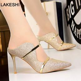 hermosos zapatos altos Rebajas Zapatos de tacones altos Sandalias de las mujeres Moda Bombas de tacones altos Sandalias Hermosas Zapatillas Zapatos femeninos Stiletto