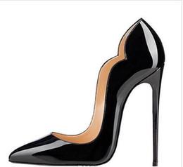 2019 sapatos de salto alto tamanho alto New extreme bottom vermelho sapatos de salto alto para a mulher 8 cm 10 cm 12 cm sapatos de festa de salto fino slip-on sapatos femininos plus size personalizar 34-44 # 9014 sapatos de salto alto tamanho alto barato