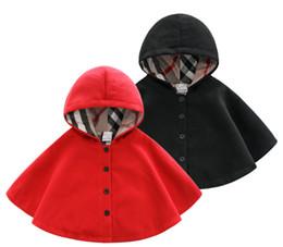 2019 poncho fille de fleur Vêtements pour enfants au printemps et en automne cape coupe-vent en laine pour nouveau-né garçons et filles bébé manteau thermique épaissie bébé out cape