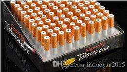 La vendita calda 78 millimetri di metallo lunga sigarette produttori di tubi piccolo tubo di tabacco da fiuto tubo di alluminio bottiglia all'ingrosso da