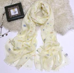 Sciarpe di seta 100% Sciarpe di seta di alta qualità Sciarpe di seta stelle Bandana 2019 Foulard Sciarpa di seta quadrata piccola regalo per Lady Nero / Bianco M da