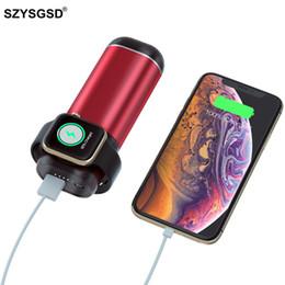 3 In1 Беспроводное зарядное устройство Power Bank для Iphone Airpods Apple Watch Series 4/3/2/1 5200mah Power Bank Портативное зарядное устройство для мобильного телефона T190627 от