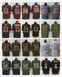 Jersey de 13 elites on-line-New Browns Bandeira Cleveland 51 Mingo 13 Beckham jr 23 Haden 6 Mayfield Antracite Salute Para Service Limited Jersey Deriva Moda Elite Jerseys