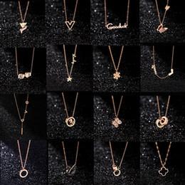 doni cigni amanti Sconti 20 stili Gioielli di design Black Swan Clover Necklace Collana in oro rosa 18 carati Platinum Luxury Woman regalo da innamorati