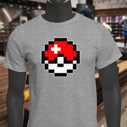8 Bit Classic College Humor Apoyo Dropship Ball para hombre camiseta gris camiseta de los hombres de moda de manga corta día de acción de gracias personalizado tamaño más hombres desde fabricantes