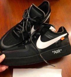 OFF w nero x Nike Air Force 1 forzatura Forza LOW uno 1 VIRGIL Volt AO4606 Bianco Verde SNEAKERS pattini correnti di sport 36-45 da scarpe da lavoro casual uomini fornitori