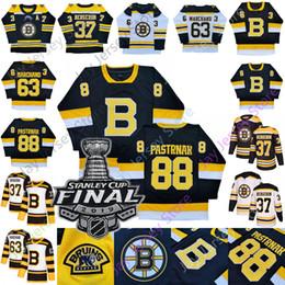 Chara de hockey maillot en Ligne-2019 2020 Vintage Boston Bruins Brad Marchand David Pastrňák Patrice Bergeron David Krejci Zdeno Chara Winter Classic Coupe Stanley