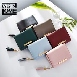 AŞK GÖZE Yepyeni 2019 bayanlar el cüzdan mini kart çanta moda basit çanta püskül toka cheap buckle brand purses nereden marka çantalar toka tedarikçiler