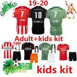 Topkwaliteit 2019-20 Eindhoven детский футболка + носок 19 20 PSV Kindervoetbalset HENDRIX BERGWIJN DE JONG детские футбольные майки от