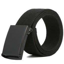 Canvas Belt Casual Pants Cool Wild Gift For Men Women Belt Men s Canvas Metal Woven 160cm