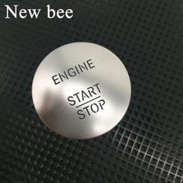 2019 adesivo da roda toyota Newbee Start Stop Motor Botão Keyless Go ignição Universal Para C200 A45 G55 S63 ML350 GLK350 S350