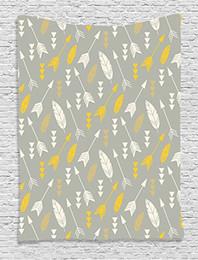 2019 patrones de arte Flecha Decoración Bohemio Plumas y flechas Patrón repetitivo Arte de la obra Dormitorio Sala de estar Dormitorio Colgante de pared Tapiz rebajas patrones de arte