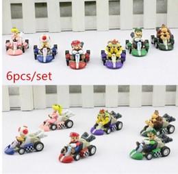 (Im Shop) 6pcs 1set Super Mario Bros Figuren Spielzeug-Auto Super Mario Bros Kart ZIEHEN Pull Back BACK Auto Figuren Super-PVC Modell von Fabrikanten