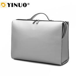 sac d'ordinateur portable 14inch Promotion YINUO PU Women Men Briefcase 13inch / 14inch Laptop Bag Sac à main Portable