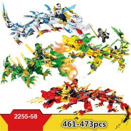 4 modelli Hsanhe Ninjago Set Building Blocks 3 in 1 Ninja Mech Cavaliere del Drago Garmadon Charlie fai da te Giocattoli educativi Mattoni Giocattoli # 2255-2258 cheap toys ninja da giocattoli ninja fornitori