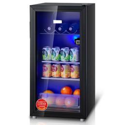 BC-98L porte en verre transparent petit ménage réfrigéré armoire de stockage échantillon thé glace bar glace panneau de verre trempé ? partir de fabricateur