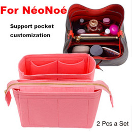 Мешки для денег онлайн-For Neo noe Insert Bags Organizer  Handbag Organize Travel Inner Purse Portable Cosmetic base shaper for neonoe(20 colors)