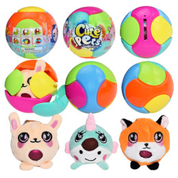 Haustier-boxen online-2019 neue nette haustiere bubble drops pet spucke bubble blind box kuscheltiere puppen plüschtiere dekompression spielzeug ball