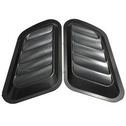 fluxo de plástico Desconto 1 Par de Entrada de Fluxo De Ar Do Carro Scoop Turbo Bonnet Ventilação Capa Fender Capô Cinza / Preto