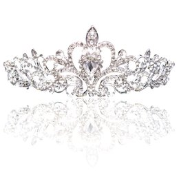 girls tiaras for wedding Coupons - Big Princess Classic Bride Headpieces Tiaras Cute Girls Tiaras Crowns All with Crystal for Wedding and Gift New Style Free shipping CPA793
