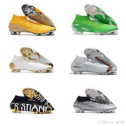 botas de futebol de tamanho 12 Desconto Super Mercurial Superfly VI 360 Elite FG KJ 6 XII 12 CR7 Ronaldo Neymar Dos Homens Das Mulheres Meninos Sapatos De Futebol Alta Botas De Futebol Chuteiras Tamanho EUA 3-11