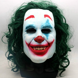 2019 häkelhut rentier Film Joker Cosplay Maske Erwachsene Halloween Latex Maske Arthur Fleck Vollkopfmaske Frauen Männer Party Cosplay Prop