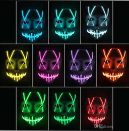 El lichtstreifen online-Maske LED leuchtet lustigen Maske Led Streifen Flexible Neonzeichen-Licht-Glühen EL-Drahtseil-Neonlicht Halloween Gesicht Controller-Weihnachtsbeleuchtung