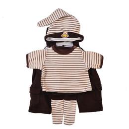 cappello di brunetta del bambino Sconti KEIUMI 22-23 pollici Baby Doll vestiti per il bambino di moda vestiti del bambino marrone imposta pantaloni camicia cappello calze bebe accessori bambola