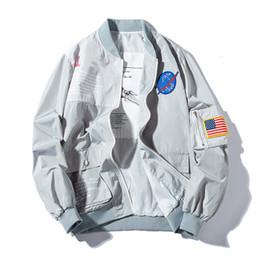 2019 мужские мужские куртки 2019 весна MA1 мужчины куртка бомбардировщик пиджаки япония военный летчик куртки мужской пальто колледж верхняя одежда военная куртка дешево мужские мужские куртки