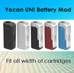Autentico Yocan UNI Mod Yocan Handy Batteria E Scatola di sigarette Mod 500mAh 650mAh Preriscaldamento Tensione Regolabile Vape Mod 10 Colori 100% Originale da