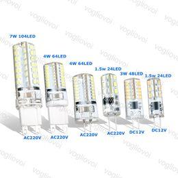 Deutschland Led Licht G9 G4 1,5 Watt 3 Watt 4 Watt 7 Watt DC12V AC220V Weiß Maisbirne Silikon Lampen Kristall Kronleuchter Dekoration Licht Epacket Versorgung