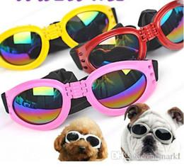 plastikhundegläser Rabatt Marki Hundebrillen Mode faltbare Sonnenbrille Medium Large Dog Brillen Big Pet wasserdichte Brillen Schutzbrillen UV Sonnenbrillen wn530a