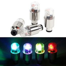 levou motocicleta roda luz Desconto Válvula Cap 4pcs Pneu luz intermitente cor diferente decorativa Bicicleta Car Motorcycle Lamp raios da roda LED Light Car-styling