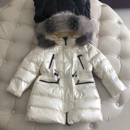 девушки гусиные пуховики Скидка 2019 детская одежда девушки парни унисекс сплошной цвет толстые гусиные пуховики зимние детские толстовки с капюшоном куртка куртка детская одежда для мальчиков 93-5
