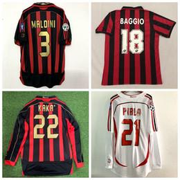 mejor camiseta de futbol blanca Rebajas Retro clásico 1991 1992 1996 2005 2006 2007 Milán jerseys del fútbol camiseta de fútbol INZAGHI PIRLO MALDINI KAKA SHEVCHENKO CA 06/07 retro S-2XL