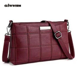 27157aaf18fa6 2019 Fashion Women Genuine Leather Plaid Messenger Bags Sac a Main Shoulder  Bags Women Crossbody Bag Ladies High Quality Sheepskin Handbags