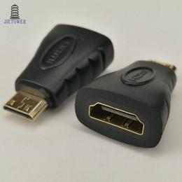 Mini hdmi telefon online-100pcs / lot hdmi weiblich zu mini hdmi männlich transfer kopf für kino, projektor, spiel, set-top box, notebook, handy
