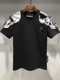 Argentina 2019 verano camisa de cuello redondo de moda de la perforación caliente p3096 manga corta cráneo de manga corta nueva tendencia marca pp camiseta de los hombres Suministro