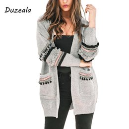 2021 пальто с длинными рукавами для дам Long Sleeve Cardigan Ladies Winter Knitted Boho Female Sweater Cardigan Floral Outerwear Tassel Spanish Elegant Casual Long Coat